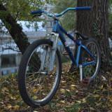 Vand Bicicleta MTB Dirt macra RAM in stare percefcta, pret negociabil - Mountain Bike, 26 inch, Numar viteze: 1, Aluminiu, Albastru, MTB DJ-4X Hardtail