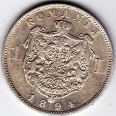 Monede Romania - 4)Moneda argint 1 leu 1894