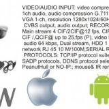 Camera CCTV, Exterior, Cu fir, Analogic, Color - Dvr cu camere video hikvision