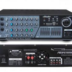 Echipament karaoke - STATIE AMPLIFICARE KARAOKE 130 WATT CU MIXER INCORPORAT, EFECTE VOCE, INT, MICROFOANE, MP3 PLAYER STICK USB, CARD
