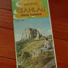 Harta turistica - Masivul Ceahlau - perioada comunista !!