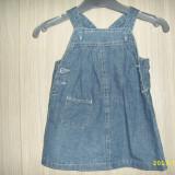 Sarafan fetita/fetite set 2 buc, Culoare: Albastru