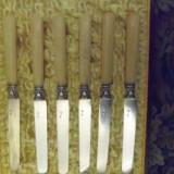 Cutite argint PIERRE QUEILLE 1834, maner fildes cu certificat autenticitate, Tacamuri