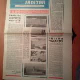 Ziarul muncitorul sanitar 28 iunie 1980 (15 ani de la congresul al 9-lea al p.c.r. )