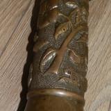 Vaza decor dintr-un obuz din primul razboi, opera de arta, din bronz reducere