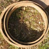 3 cercuri de lemn vechi pentru decor rustic