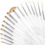 Pensule profesionale 15/SET nail art manichiura pedichiura unghii false FRAULEIN - Ustensile