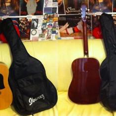 Chitara acustica Aria AWN-15N + husa Ibanez + curea rosie Ibanez + Set pene Jack Daniel's