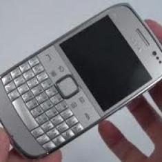 Telefon mobil Nokia E6, Gri, Orange - Nokia E6 Silver