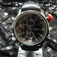 Ceas Barbatesc Dolce & Gabbana - Ceas D&G Dolce Gabbana curea piele neagra + cutie cadou + expediere gratuita