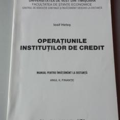 OPERATIUNILE INSTITUTIILOR DE CREDIT 2007 - Curs Economie
