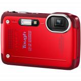 Aparat foto compact Olympus Tough TG-630, CMOS 12MP, Zoom optic wide 5x, Filmare Full HD, Dual IS, Rosu - Aparat Foto Olympus TG-320