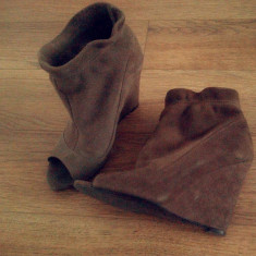 Platforme Zara - Pantof dama Zara, Marime: 37, Culoare: Bej, Bej