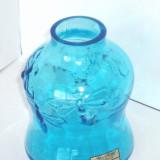 Vaza sticla - Vaza cristal saphire suflata manual - design Amie Stalkrantz Lindqvist, Mantorp