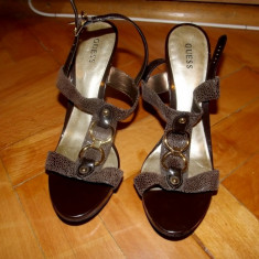 Sandale Guess - Sandale dama Guess, Marime: 39, Culoare: Maro, Maro