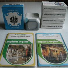 152 diapozitive vintage (URSS)+aparat diapozitive