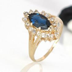 Inel superb diamante cu safir 0, 32krt reducere - Inel diamant, 46 - 56