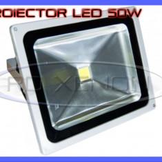 Iluminat exterior ZDM - PROIECTOR REFLECTOR LED 50W ECHIVALENT 500W, 4500 LUMENI, IP65, 220V, ALB RECE