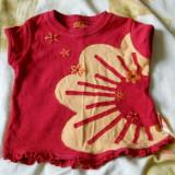 Haine Copii 1 - 3 ani, Bluze, 92 (2 ani, inaltime 87 - 92 cm), Rosu - Bluzita rosie din bumbac 100% fetite 2 ani de la Pampolina