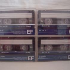 Vand set 9 casete audio Sony EF-60, originale, raritate!