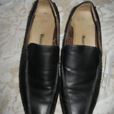 Mocasini Weness piele neagra Mar 41 - Mocasini dama, Culoare: Negru, Piele naturala