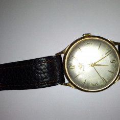 Ceas barbatesc, Mecanic-Manual, Aur, Piele, Analog, Inainte de 1940 - Ceas de aur marca marvin
