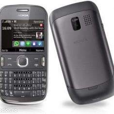 Nokia Asha 302 - Telefon mobil Nokia Asha 302, Gri, Orange