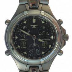 Tissot Cronograf Titanium multifunction, antiacvatic - Ceas barbatesc Tissot, Sport, Quartz, Alarma