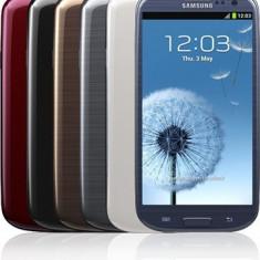 Telefon mobil Samsung Galaxy S3, Albastru, 32GB, Neblocat, Quad core, 1 GB - Oferta!!!Galaxy S3, 32 GB, albastru Impecabil, Samsung Galaxy S3 Mettalic Blue + Flip Cover (Mettalic Blue)