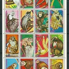 Timbre straine - GUINEA ECUATORIALA 1975 - MAIMUTE (SERIE COMPLETA) - NESTAMPILATA - MNH (16 VALORI)