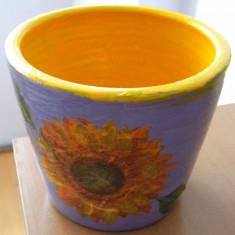 Ghiveci flori decorat