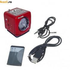 Boxe Telefon - BOXA PORTABILA CU RADIO MP3 SLOT USB SI CARD SD +adaptor usb Culoare ROSU