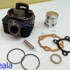 Set cilindri Moto - Kit Cilindru - Set motor + Segmenti + Piston Scuter Aprilia SR - 80cc racire AER