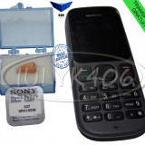 Casca Japoneza cu telefon NOKIA 100 microcasca  casti de copiat sistem pentru examene sisteme pt BAC sesiune bluetooth magnet Baterie SONY 337 NOU