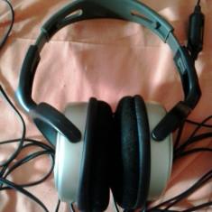 Casti PHILIPS SBC HP250 stereo, Casti Over Ear, Cu fir, Jack 3, 5mm, Active Noise Cancelling