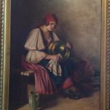 Szasz Istvan, dimensiune : 100/70 - Pictor strain, Portrete, Ulei