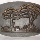 Mobilier - Cuier din metal sau piatra cu pom 29cm/16cm