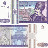 ROMANIA 5.000 lei 1993 UNC!!!