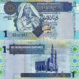 LIBIA 1 dinar 2004 - seria 6 UNC!!! - bancnota africa