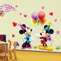 Tapet copii - Autocolant Mickey and Minnie Mouse Sticker Perete 2016, DECOR CAMERA COPIILOR