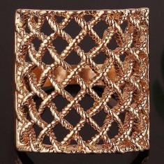 Inel placat filat cu aur roz 14k (