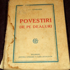 Carte Editie princeps - Eugen Boureanul - Povestiri de pe dealuri, nuvele princeps 1926, prima editie