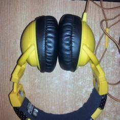 Casti SkullCandy dB Original (galben) DRVR 50 MM SKDY HeadPhones, Casti Over Ear, Cu fir, Jack 3, 5mm, Active Noise Cancelling