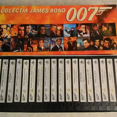 JAMES BOND - 007 - SET 18 CASETE VIDEO ORIGINALE - SUBTITRATE IN ROMANA - Film thriller mgm, Caseta video