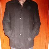 PALTON PENTRU BARBATI, MODA ALISS. - Palton barbati, Marime: 46, Bumbac, Negru