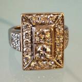 Impozant inel Art Deco!!! Aur alb 18k cu 2 carate diamante!!!!Vechi! Vintage!