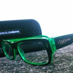 Rame ochelari D&G - Rama ochelari D&G, Unisex, Negru, Dreptunghiulare, Plastic, Rama intreaga