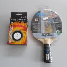 PALETE PALETA TENIS MASA JOOLA PROFI +SET MINGI DONIC WTC - Paleta ping pong