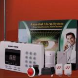 Sistem Alarma WIRELESS APELARE TELEFONICA 2 TELECOMENZI cu senzor, pentru Casa - Sisteme de alarma