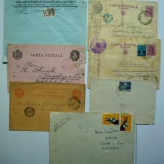 Lot de 7 vechi circulatii - CP, CP militara, plicuri